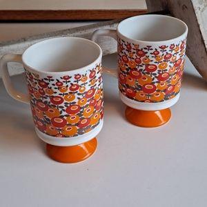 Vintage 1970s Coffee Cup/Mug Pair